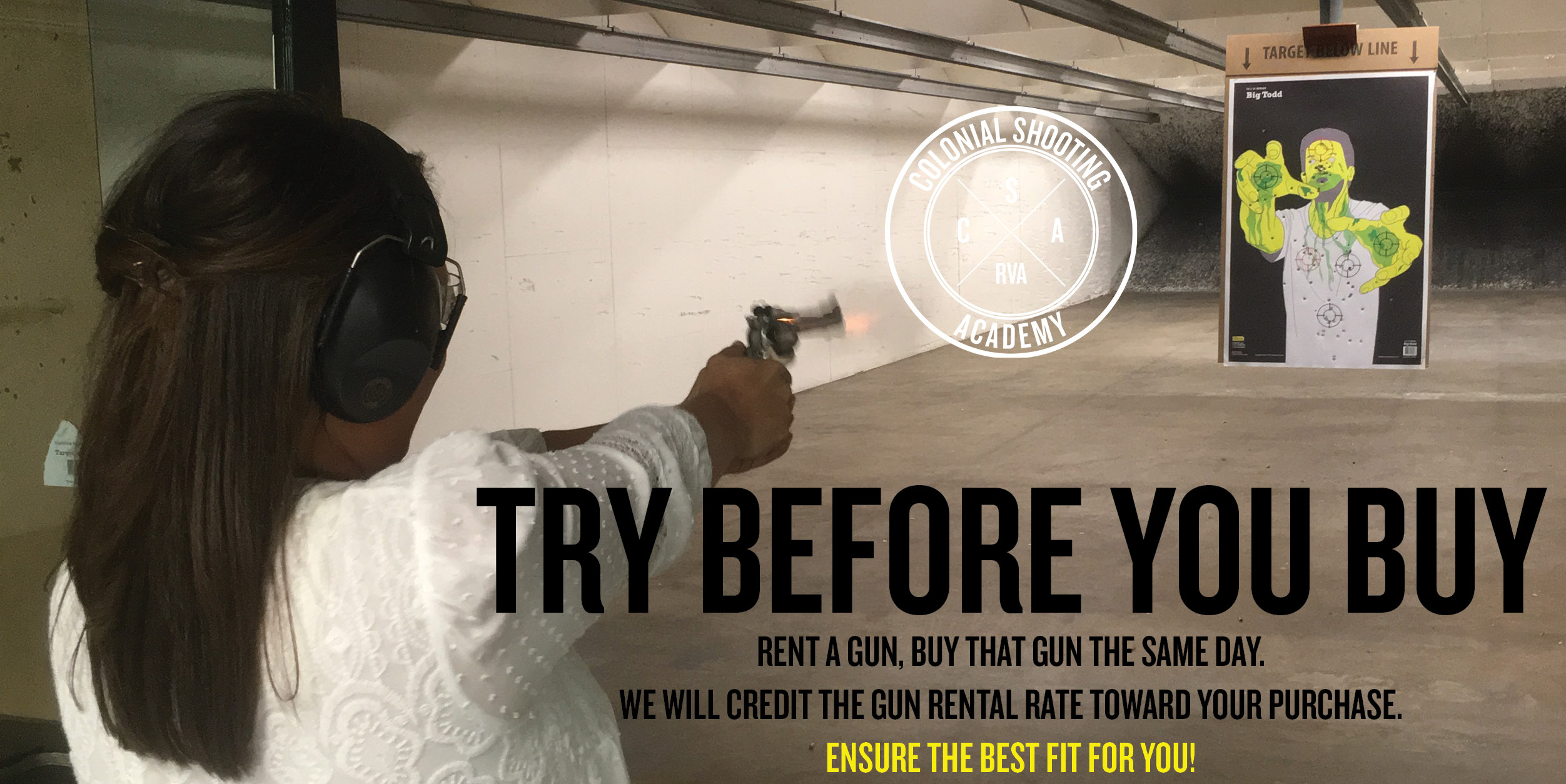 Try before you buy a gun, Shooting Range, Rent a gun, Colonial Shooting Academy, Richmond, VA, What gun should I buy